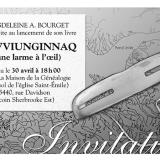 Invitation de lancement d'un livre