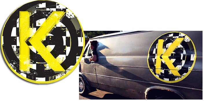 Logo pour vidéoclip du groupe Kamikazi